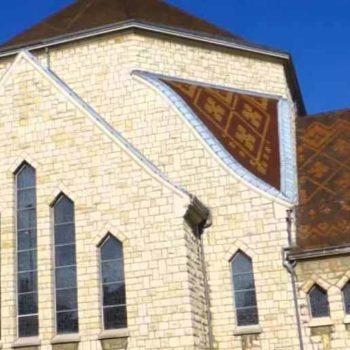 Détail de la façade de l'église Saint Joseph d'Annemasse